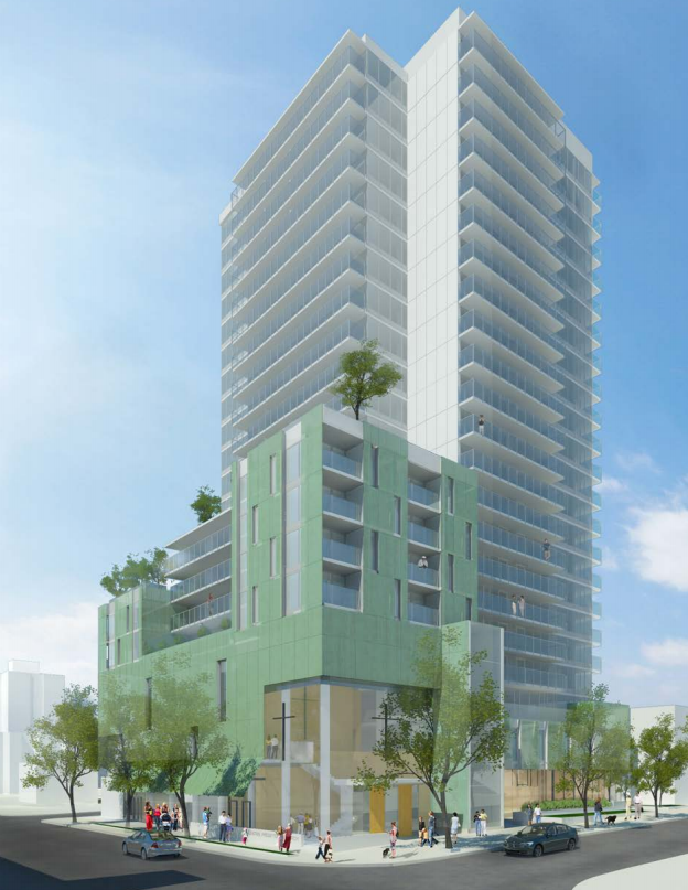New 22 story rental building planned for the West End with a Church in it