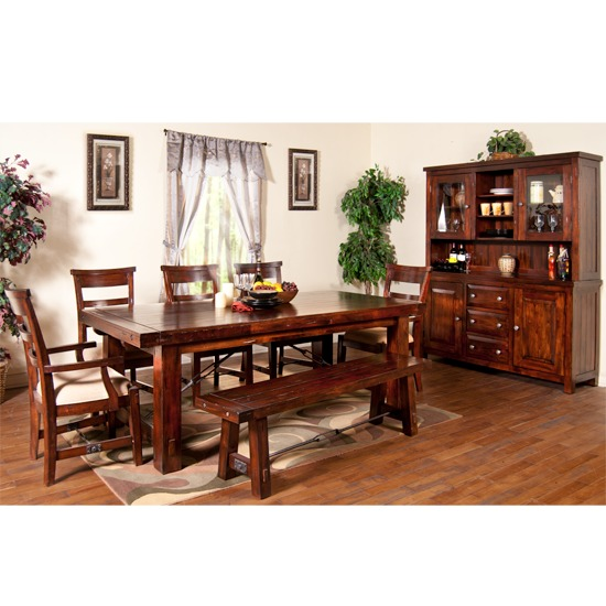pottery barn dining room set knock-off solid mahogany