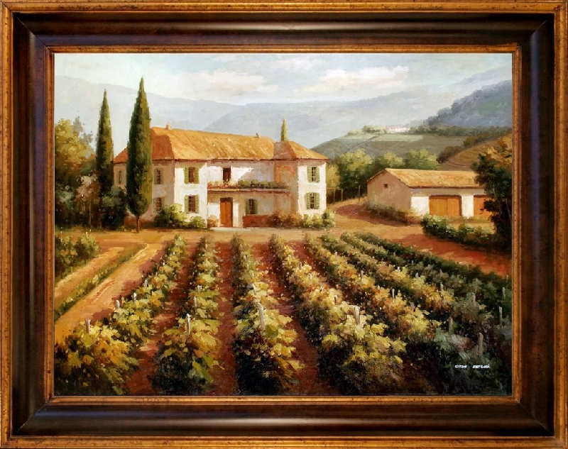 Tuscan Oil Painting Vineyard Phoenix Art Sale