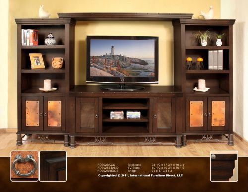 phoenix rustic southwest furniture store sale entertainment center wall unit