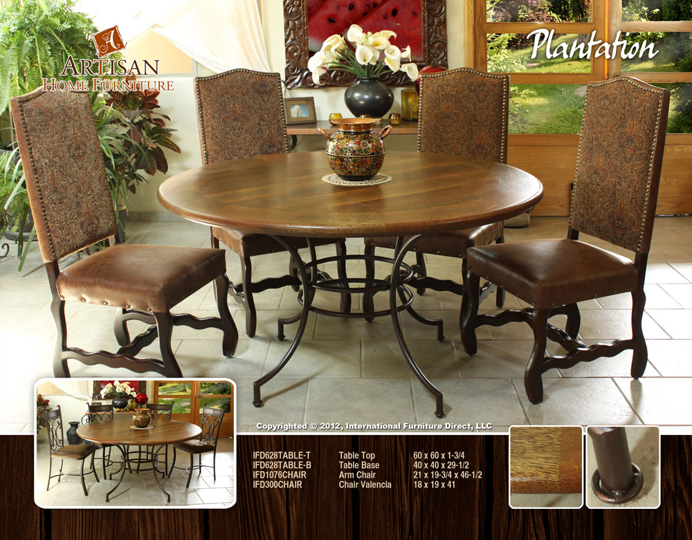 coconut wood round dining table sustainable wood furniture