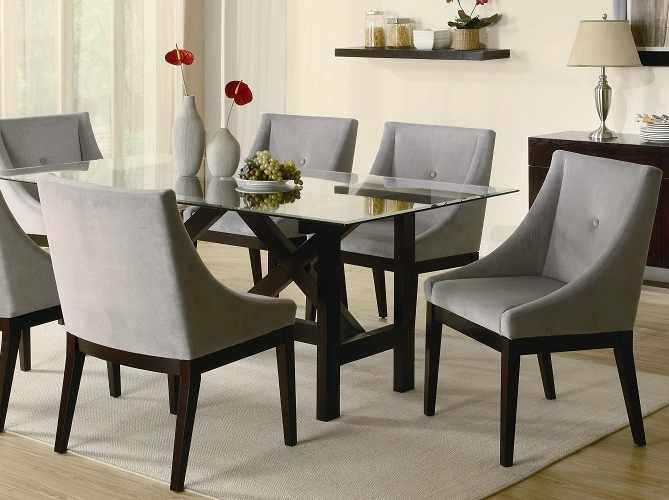 sleek modern dining table