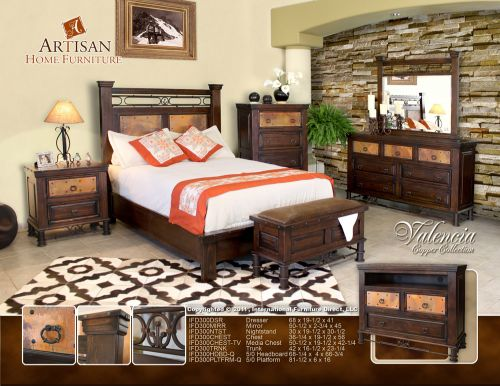 phoenix southwest furniture store rustic bedroom set