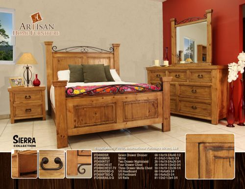 rustic southwest bedroom furniture set
