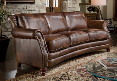 Curved Leather sofa sale phoenix az