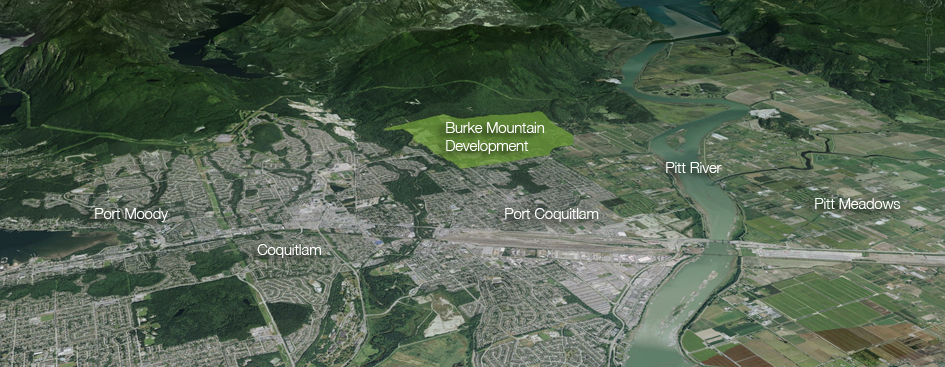 Burke Mountain Aerial Location