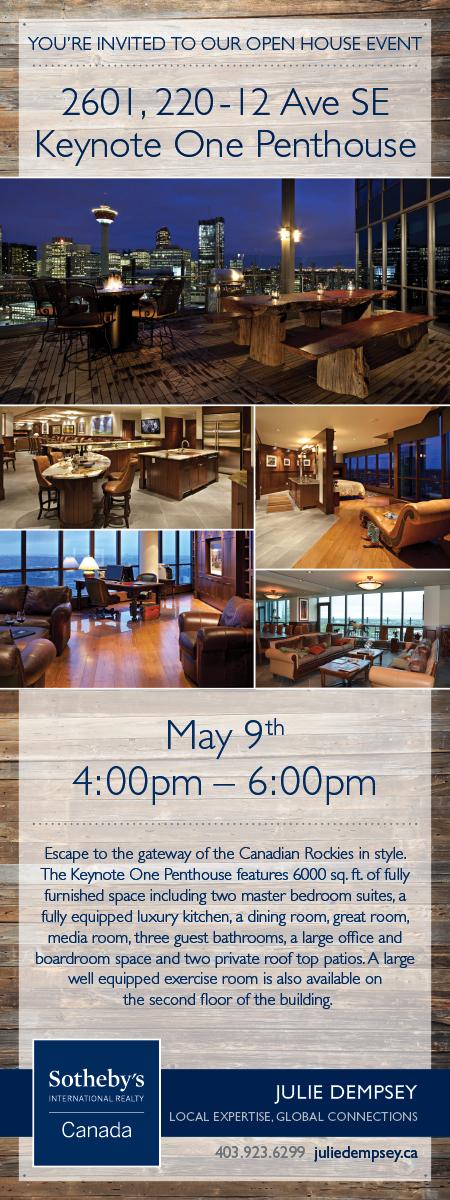 Calgary Luxury Penthouse Open House