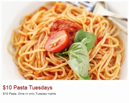 Pastameli 10 Dollar Pasta Tuesday