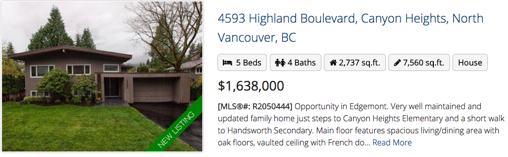 4593 Highland Boulevard North Vancouver