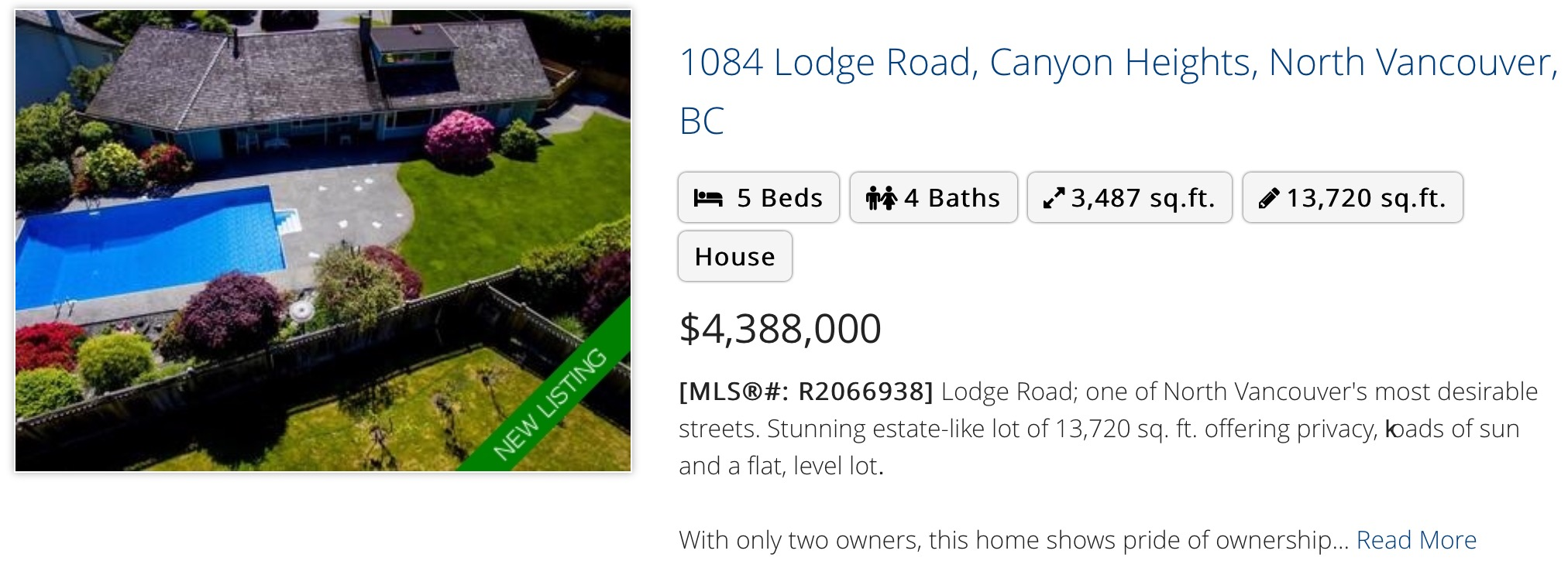 1084 Lodge Road, Canyon Heights, North Vancouver, BC