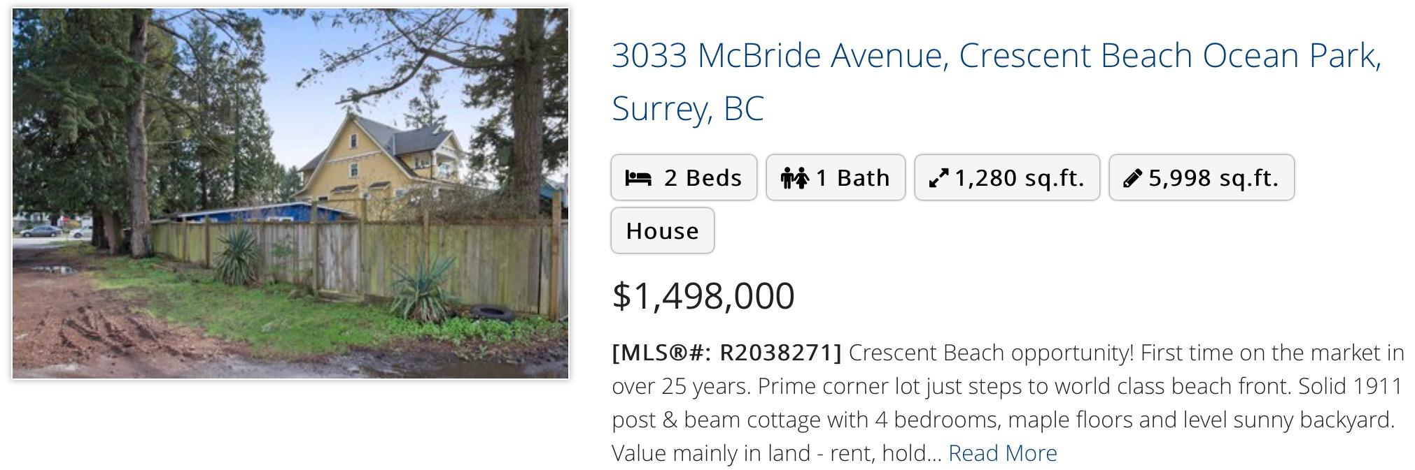 3033 McBride Avenue, Crescent Beach Ocean Park, Surrey, BC