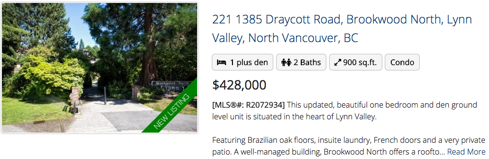 221 1385 Draycott Road, Brookwood North, Lynn Valley, North Vancouver, BC