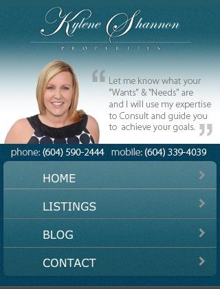 Kylene Shannon Mobile Website