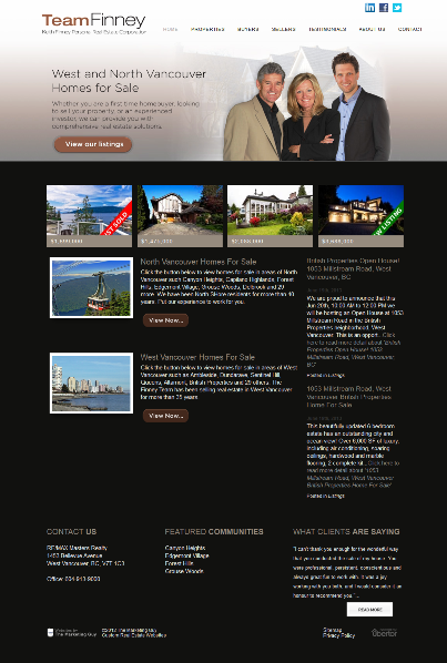 Team Finney New Website