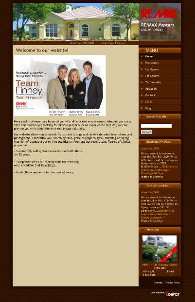 Team Finney Old Website