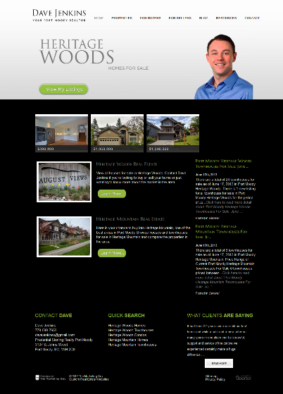 Heritage Woods Homes for sale website