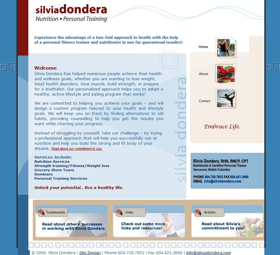 Silvia Dondera Old Website