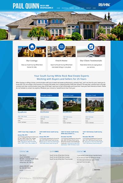 Paul Quinn New Website