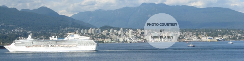 North Vancouver with Cruise Ship, North Vancouver, BC