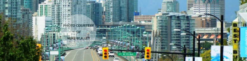 Looking North on Cambie Street Bridge to False Creek