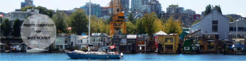False Creek Looking to Fairview Slopes Houseboats