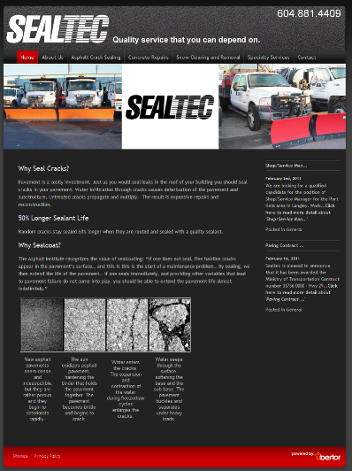 Sealtec Home Page 400
