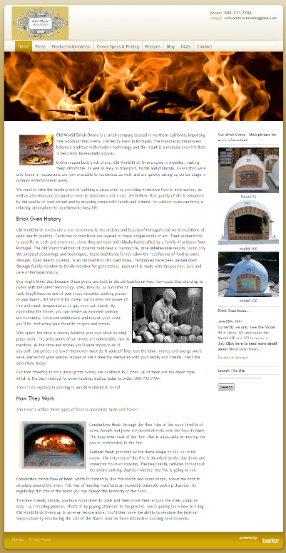 Old World Brick Ovens New Home Page 401