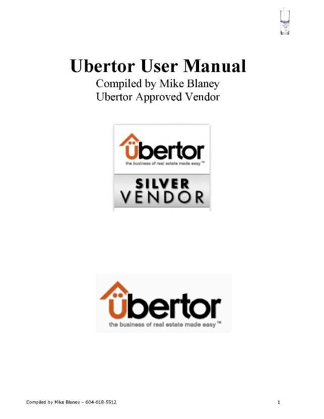 Ubertor User Manual Cover