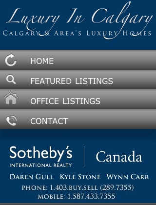 Luxury in Calgary Mobile Website