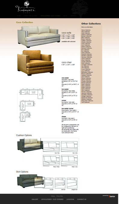 Timbavati Home Upholstered with menu