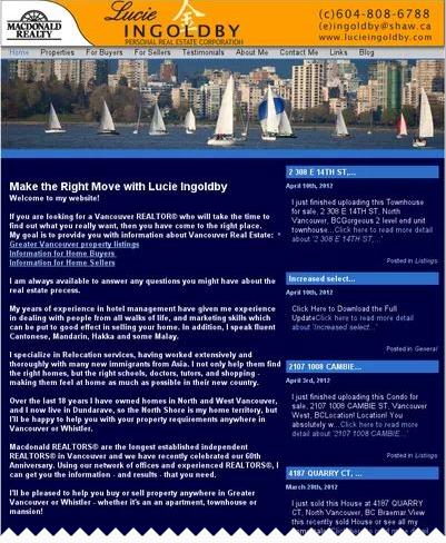 Lucie Ingoldby Website Before