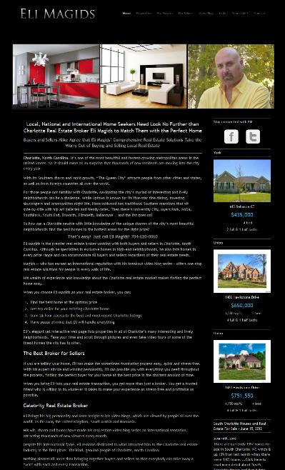 Eli Magids Charlotte NC Realtor Home Page