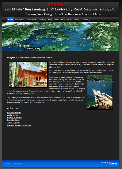 Lot 13 West Bay Landing Gabriola Island BC Cottage For Sale