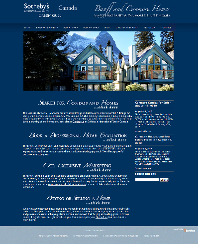 Banff Canmore Homes Website 400