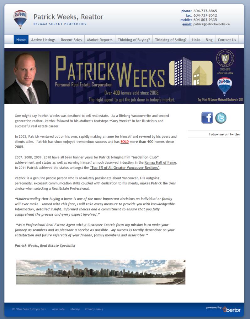 Patrick Weeks Old Website