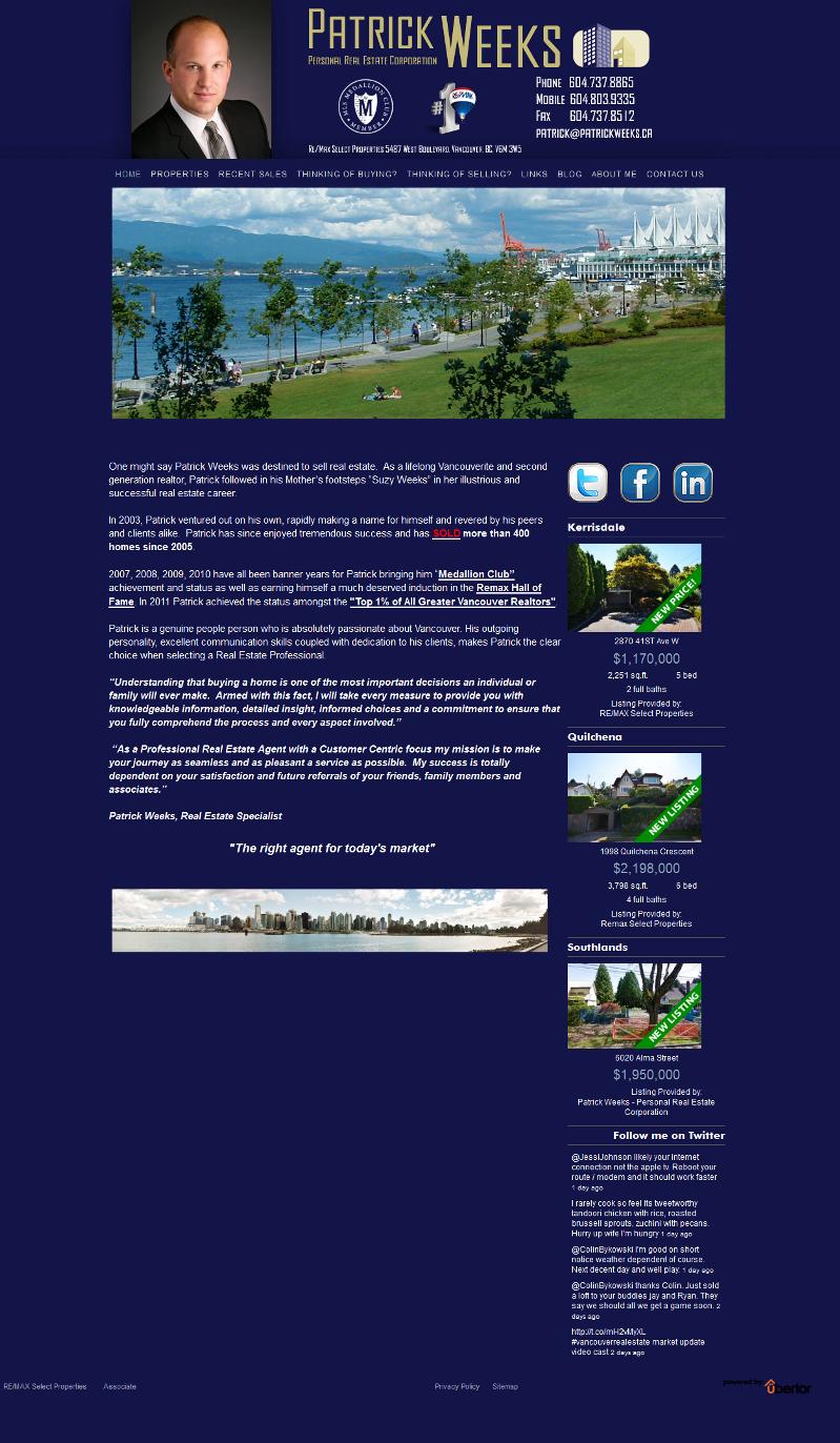 Patrick Weeks New Website