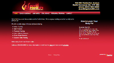 go to hellth website screen shot