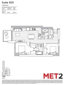 Metrotown Condo for sale:  2 bedroom 788 sq.ft. (Listed 2016-08-23)