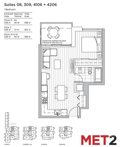 Metrotown Condo for sale:  1 bedroom 508 sq.ft. (Listed 2017-01-10)