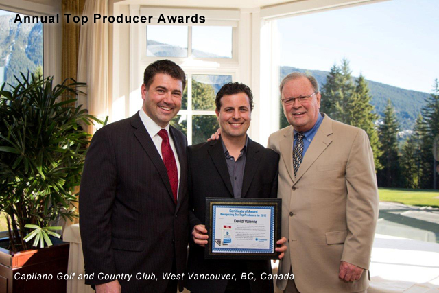 Annual Top Producer Awards Prudential Sussex Realty David Valente