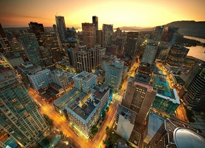 Real Estate Downtown Vancouver Sunset