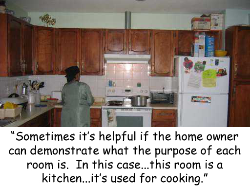 grandma in the kitchen