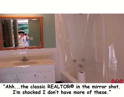 realtor in mirror