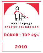 Royal LePage Shelter Top Donor 2010