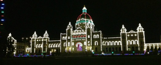 Victoria Parliament Building at Christmas