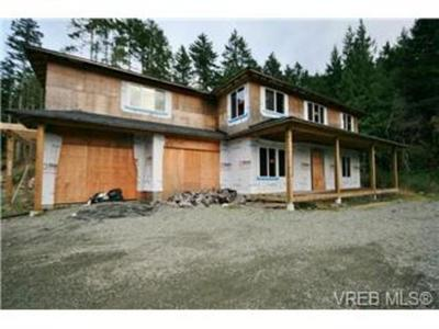 FORECLOSURE - Sooke Acreage And Home Under Construction - $200,000!