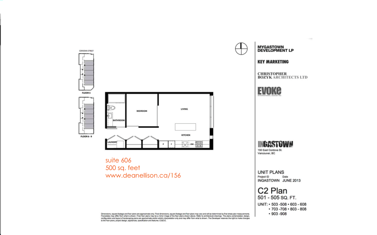 606 150 E Cordova Floor Plan