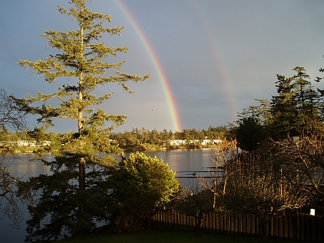 Rainbows at Portage Inlet