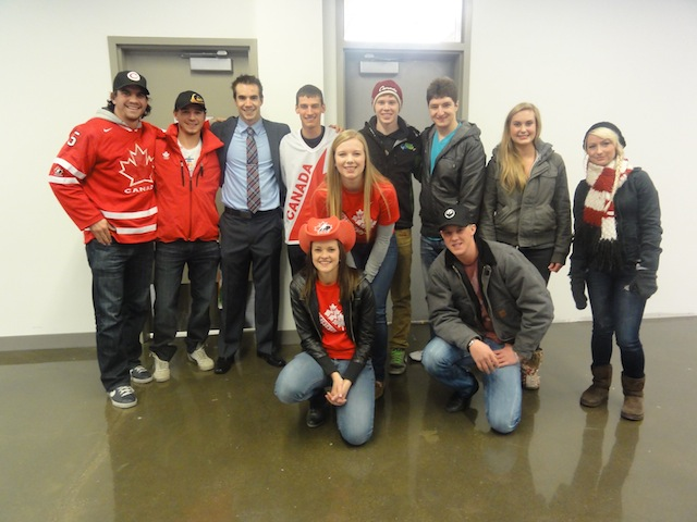 Team with Remps Kevin Rempel Team Canada Sledge Hockey Calgary Alberta Kevin Jagger Long Track Long Shot