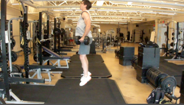 Dumbbell Jump Squats